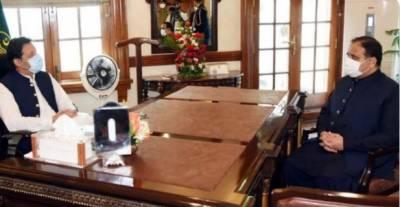 وزیراعظم عمران خان سے وزیر اعلیٰ پنجاب عثمان بزداد کی لاہور میں ملاقات