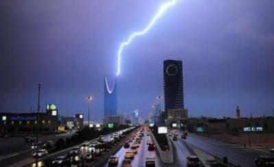 سعودی عرب کے وسیع حصے میں طوفانی بارشیں متوقع