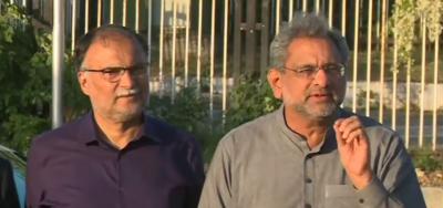 عمران خان کی حکومت جہانگیر ترین کے ہاتھ میں ہے: شاہد خاقان عباسی