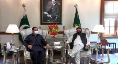 وزیراعلیٰ پنجاب سردار عثمان بزدارسے وفاقی وزیرداخلہ شیخ رشید احمد کی ملاقات