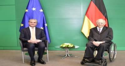 وزیرخارجہ مخدوم شاہ محمود قریشی کی برلن میں جرمن پارلیمان کے صدروولف گانگ شوئبلےسےملاقات