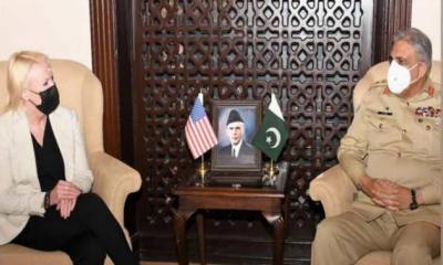 آرمی چیف جنرل قمر جاوید باجوہ سے امریکی ناظم الامو رکی ملاقات، دو طرفہ امور اور سکیورٹی صورتحال پر تبادلہ خیال