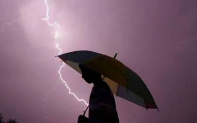 سندھ کے مختلف شہروں میں گرج چمک کے ساتھ بارش ،موسم خوشگوار