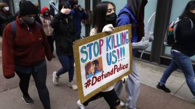 امریکہ میں پولیس کے ہاتھوں 13سالہ لڑکے کی ہلاکت کے خلاف مظاہرہ
