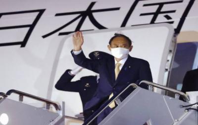 جاپانی وزیراعظم امریکہ پہنچ گئے