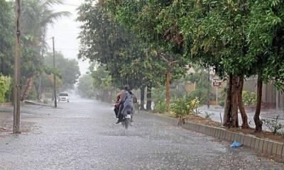 اسلام آباد اور بالائی علاقوں میں گرج چمک کے ساتھ بارش