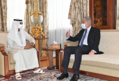 وزیر خارجہ شاہ محمود قریشی کی ابوظہبی میں بین الاقوامی ایکسپو کمشنر جنرل سے ملاقات