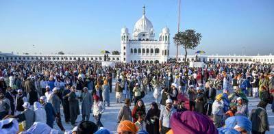 بیساکھی کے تہوار کی تقریبات: سکھ یاتری گردوارہ دربار صاحب کرتار پور پہنچ گئے