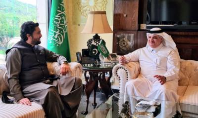 شہریار آفریدی اور سعودی سفیرنواف بن سعید المالکی کی ملاقات، باہمی دلچسپی کے امور پر تبادلہ خیال