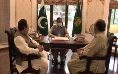 وزیراعلیٰ پنجاب سردار عثمان بزدارسے صوبائی وزراء سردار آصف نکئی اورملک نعمان احمد لنگڑیا ل کی ملاقات