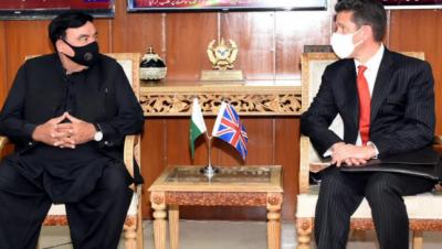 شیخ رشید، برطانوی سفیر ملاقات: نواز شریف کی ممکنہ پاکستان واپسی پر بات چیت
