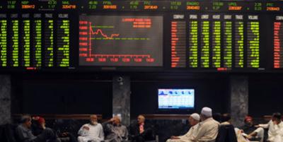 پاکستان اسٹاک ایکس چینج میں کاروبار حصص میں مندی کا رجحان , سرمایہ کاروں کو65ارب سے زائد کا نقصان