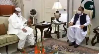 وزیراعلیٰ پنجاب سردار عثمان بزدار سے صوبائی وزیر اوقاف پیر سید سعیدالحسن شاہ کی ملاقات