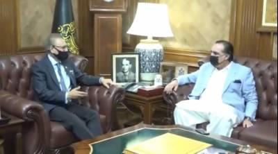 کراچی: صدر مملکت ڈاکٹر عارف علوی سے گورنر سندھ عمران اسماعیل کی ملاقات