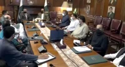 صدر مملکت ڈاکٹر عارف علوی کی زیرصدارت گورنرہاﺅس میں کورونا وائرس کی تیسری لہر اور ایس او پی پر عملدرآمد سے متعلق اعلیٰ سطحی اجلاس