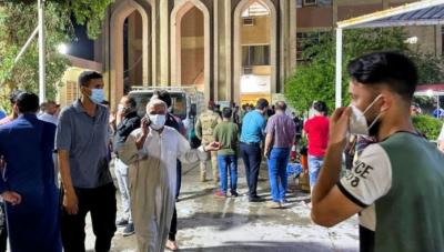 بغداد،ہسپتال میں آتشزدگی،82 افراد ہلاک،110 زخمی