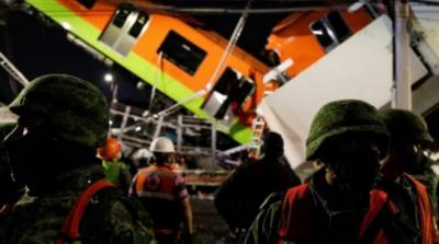 میکسیکو میں پل گرنے سے ٹرین زمین پر آگری، 23 افراد ہلاک،70 زخمی