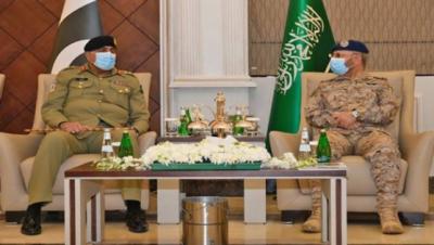 آرمی چیف کی سعودی مسلح افواج کے سربراہ سے ملاقات , آرمی چیف کا پاکستان اور سعودی عرب کے مابین فوجی تعاون کو بڑھانے پر زور
