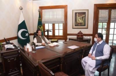 وزیراعظم عمران خان سے وزیر اعلی پنجاب سردار عثمان بزدارکی ملاقات