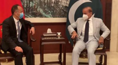 شہباز شریف کی چینی سفیر سے ملاقات، مختلف امور پر تبادلہ خیال