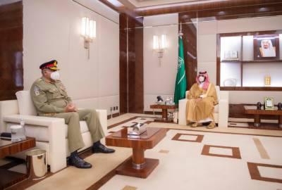 آرمی چیف جنرل قمرجاوید باوجوہ کی سعودی ولی عہد سے ملاقات