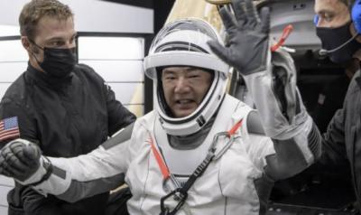 جاپانی خلاباز نوگوچی کی زمین پر واپسی