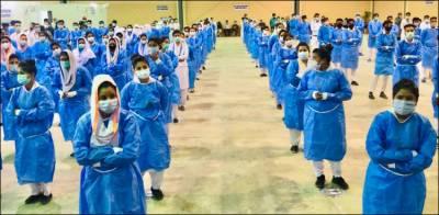 ایکسپو سینٹر کراچی میں ملک کے سب سے بڑا کرونا ویکسی نیشن سینٹر کا افتتاح