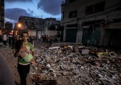 اسرائیل کی وحشیانہ بمباری نے غزہ کا منظر بدل دیا، 14 بچوں سمیت 56 فلسطینی شہیدہوگئے