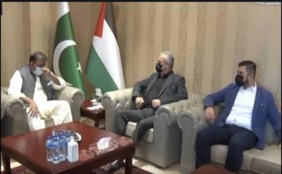 وفاقی وزیر فواد چوہدری نے وزیراعظم پاکستان کا فلسطین کے عوام کے لیئے یکجہتی کا پیغام پہنچایا
