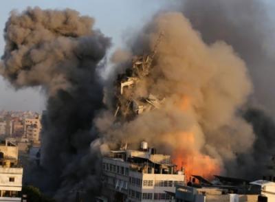 اسرائیل کا غیر ملکی میڈیا کے دفاتر پر فضائی حملہ, اسرائیل کے غزہ پر راکٹ حملے میں 11 منزلہ میڈیا ہاؤس تباہ