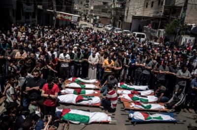 غزہ میں اسرائیلی طیاروں کی مسلسل دوسرے ہفتے بمباری، ایک دن میں مزید42فلسطینی شہید،10بچے بھی شامل
