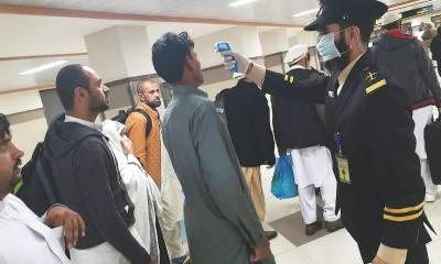 یواے ای سے آنے والی 2 پروازوں کے 39 مسافر وں میں کورونا کی تشخیص