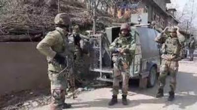 سری نگر کے ہائی سیکوروٹی زون میں بھارتی فوجی آپریشن شروع