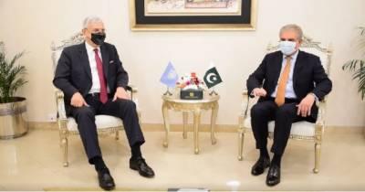 وفاقی وزیر خارجہ شاہ محمود قریشی اور اقوام متحدہ جنرل اسمبلی کے صدر والکن بوذکر کے مابین وفود کی سطح پر مذاکرات ہوئے