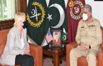 آرمی چیف سے امریکی ناظم الامور کی ملاقات، باہمی دلچسپی اُمور، افغان امن عمل پر گفتگو