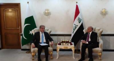 عراق: دہشتگردی کےخلاف جنگ میں ایک دوسرے کے تجربات سے فائدہ اٹھاسکتے ہیں: وزیر خارجہ شاہ محمود قریش