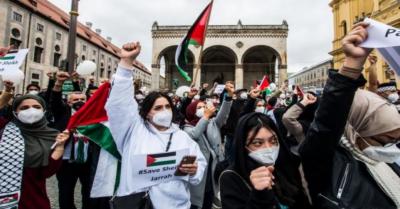امریکی شہر واشنگٹن ڈی سی میں فلسطین میں اسرائیلی جارحیت کیخلاف بڑا احتجاجی مارچ