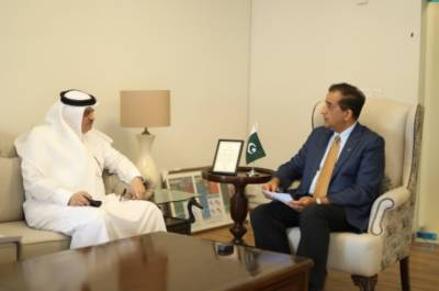 وفاقی وزیر برائے موسمیات ملک امین صاحب کی خادم حرمین شریفین کے سفیر محترم جناب نواف سعید المالکی سے ملاقات
