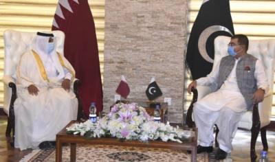 چیئرمین سینیٹ محمد صادق سنجرانی کی دعوت پر پاکستان کا چار روزہ دورہ کرنے والے قطر کے 11رکنی وفد نے شیخ علی عبداللہ علی ثانی الثانی کی سربراہی میں چیئر مین سینیٹ سے پارلیمنٹ ہاؤس میں ملاقات