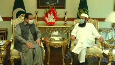 وزیراعلیٰ پنجاب عثمان بزدار سے معروف عالم دین مولانا طارق جمیل کی ملاقات، بین المذاہب ہم آہنگی کے فروغ اوردکھی انسانیت کی خدمت کے لئے اقدامات بات چیت