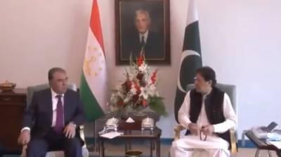 وزیراعظم عمران خان اور تاجک صدر کی ملاقات