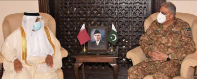 آرمی چیف جنرل قمر جاوید باجوہ سے قطر کے وفد کی ملاقات, باہمی دلچسپی اورعلاقائی سکیورٹی صورتحال پر تبادلہ خیال