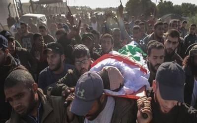 اسرائیلی بمباری سے زخمی فلسطینی دم توڑ گیا
