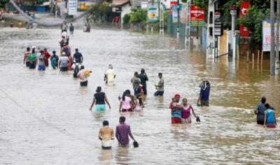 سری لنکا میں شدید بارشیں،17افراد ہلاک، ہزاروں بے گھر