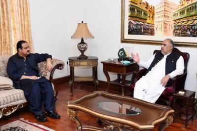 اسپیکر قومی اسمبلی سے وزیر اعلی پنجاب کی ملاقات