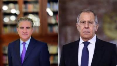 وزیر خارجہ مخدوم شاہ محمود قریشی کا روس کے وزیر خارجہ سرگئی لاروف کے ساتھ ٹیلیفونک رابطہ
