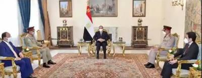 جنرل ندیم رضا کی مصر کے صدر سے ملاقات، آئی ایس پی آر