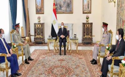 چیئرمین جوائنٹ چیفس آف اسٹاف کمیٹی جنرل ندیم رضا کی مصری صدر و عسکری قیادت سے ملاقات