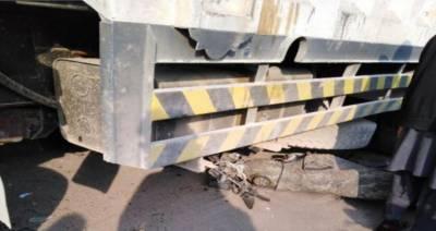 گوجرانوالہ:جی ٹی روڈ پر ٹرک اور موٹر سائیکل میں تصادم