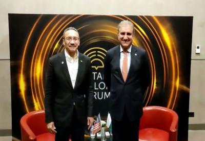 وزیر خارجہ شاہ محمود قریشی کی ترکی میں ملائشیا کے وزیر خارجہ حشام الدین حسین کیساتھ ملاقات, دو طرفہ تعلقات ، باہمی دلچسپی کے امور پر تبادلہ خیال